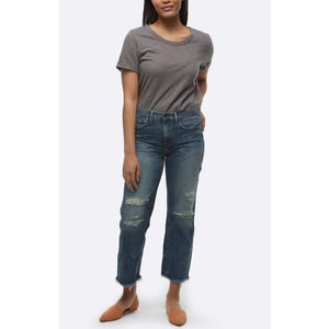 ABLE Jeans Vintage Cropped Raw Hem Jeans 32